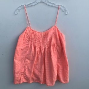 J.Crew Pintuck Cami Tank Top Orange #858